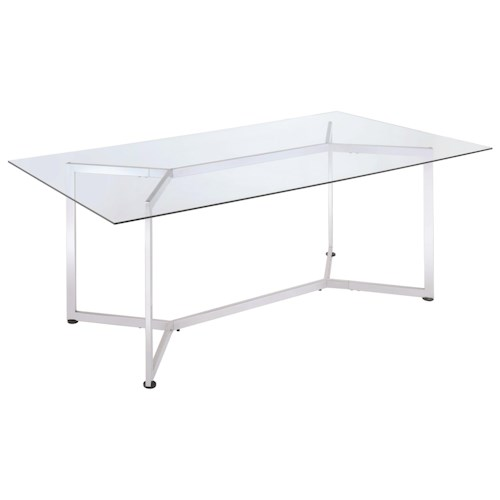 Coaster Augustin Rectangular Glass Dining Table