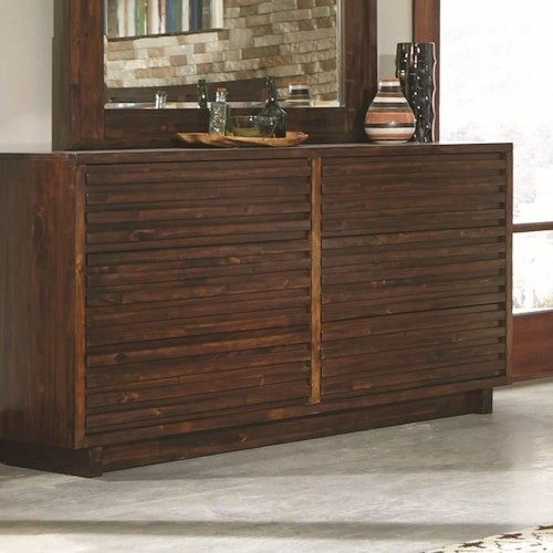Coaster Avery Dresser with 6 Dovetail Drawers
