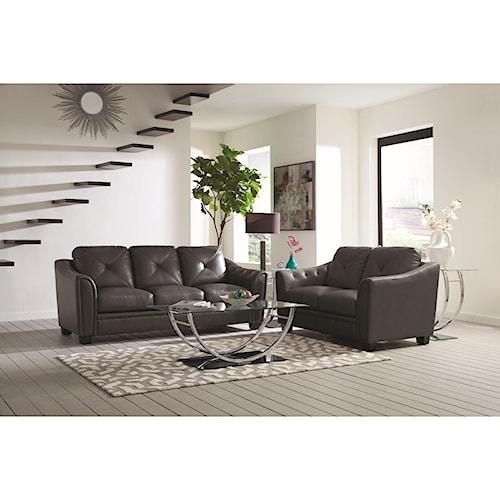Coaster Avison Contemporary Living Room Group