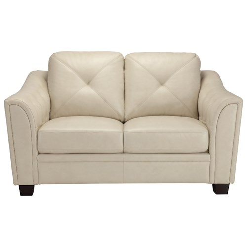 Coaster Avison Contemporary Loveseat with Tufting Accents