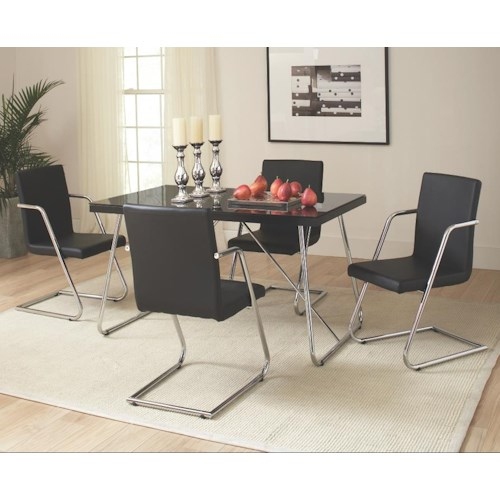 Coaster Avram 5 Piece Table and Chairs Set