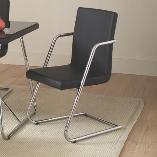 Coaster Avram Contemporary Dining Chair with Cushioned Seat