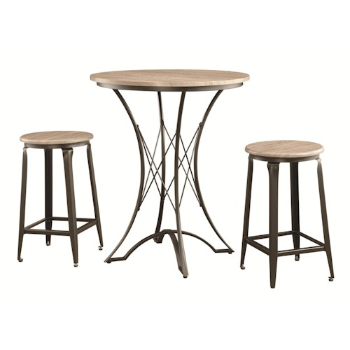 Coaster Bar Units and Bar Tables 3-Piece Counter Height Table Set with Stools