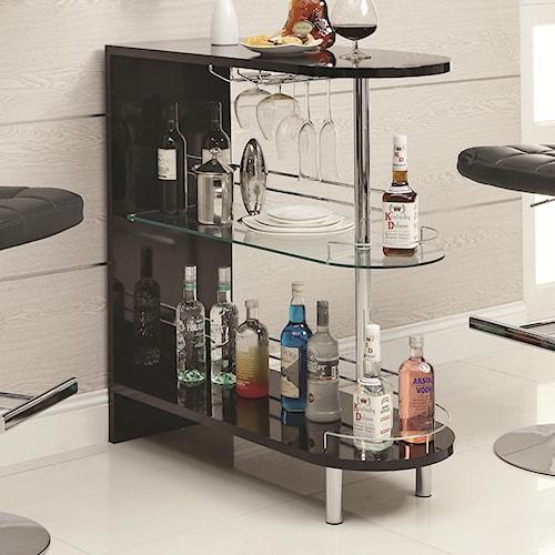 Coaster Bar Units and Bar Tables Contemporary Black Bar Table