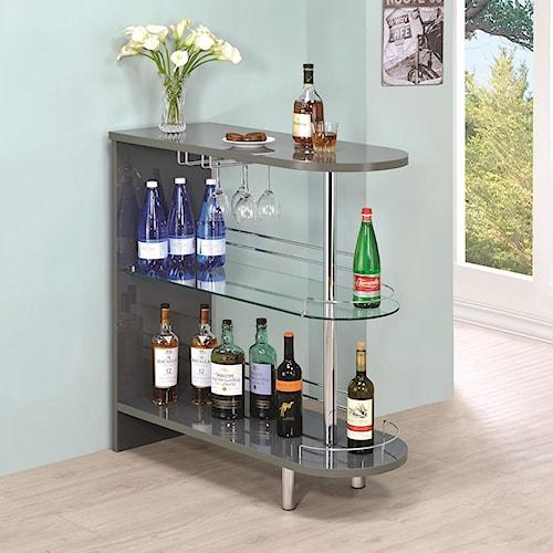 Coaster Bar Units and Bar Tables Contemporary Grey Bar Table