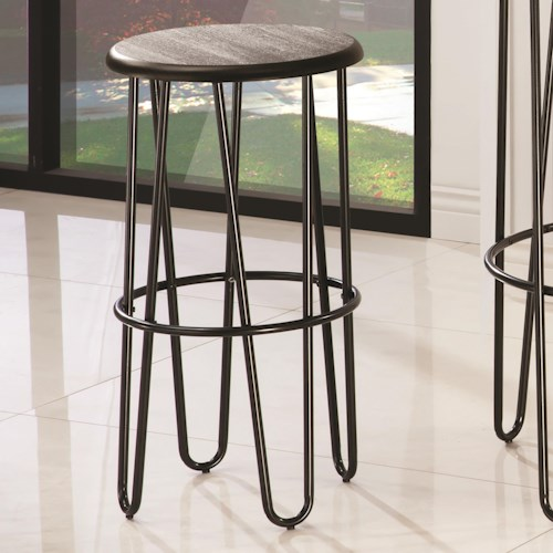 Coaster Bar Units and Bar Tables Bar Stool with Hair Pin Style Base