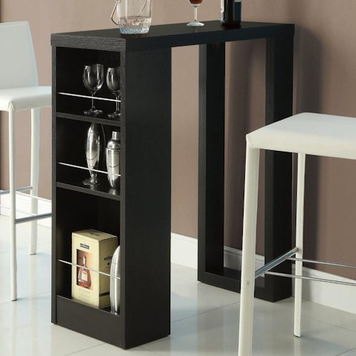 Coaster Bar Units and Bar Tables Small Bar Table with Storage Shelves