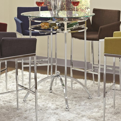Coaster Bar Units and Bar Tables Modern Bar Height Table with Glass Top