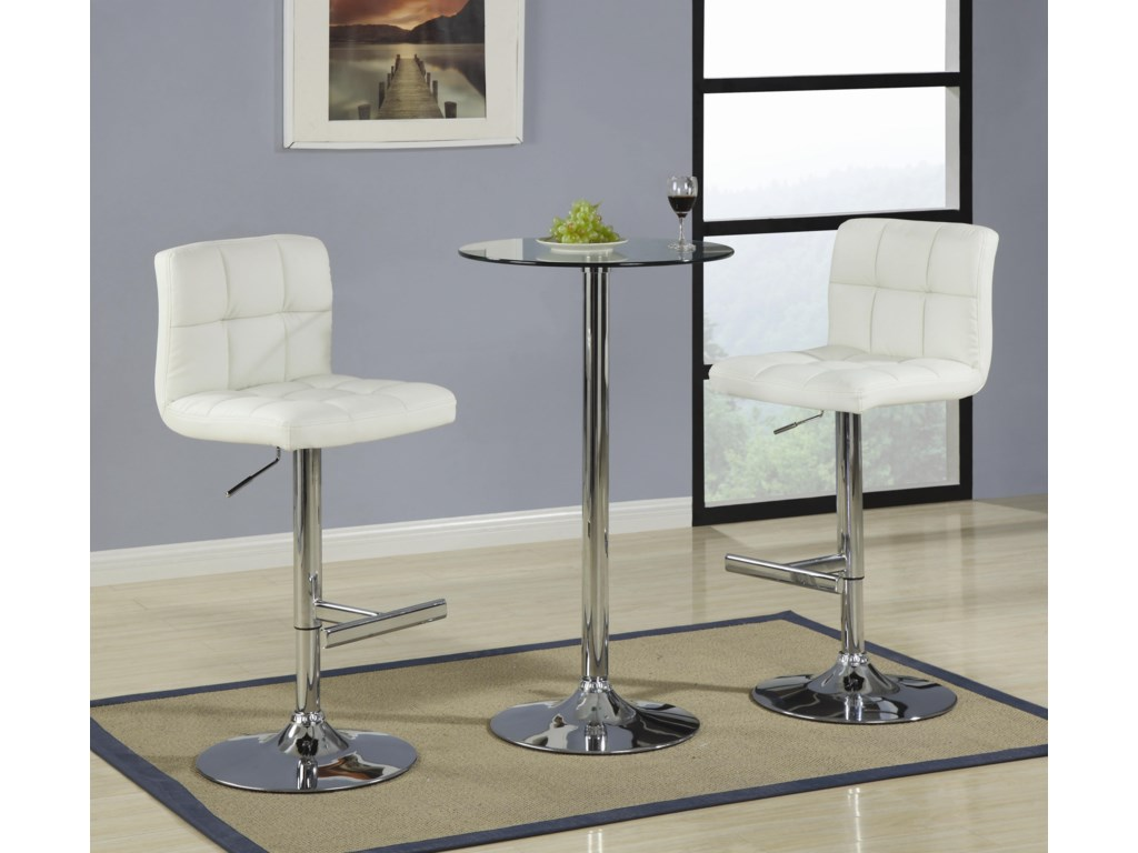 Shown as Table Set with 2 Stools