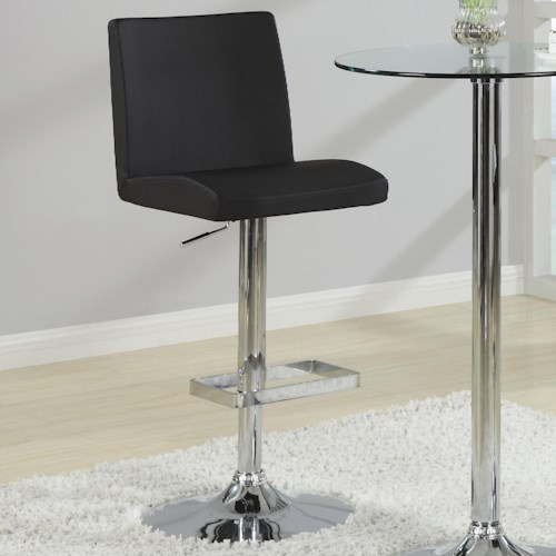Coaster Bar Units and Bar Tables Contemporary Adjustable Black Stool