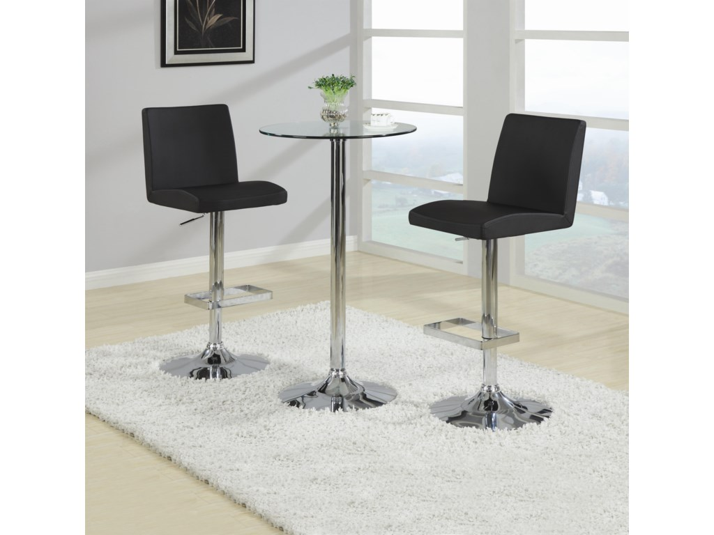 Shown as Bar Table Set with 2 Stools