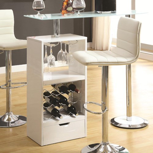 Coaster Bar Units and Bar Tables White Bar Table