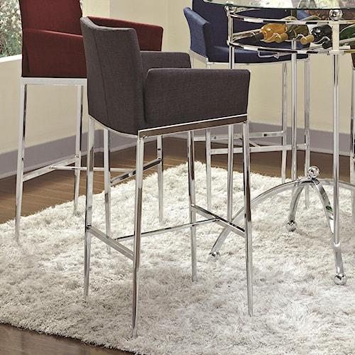 Coaster Bar Units and Bar Tables Linen Fabric Bar Stool (Charcoal)