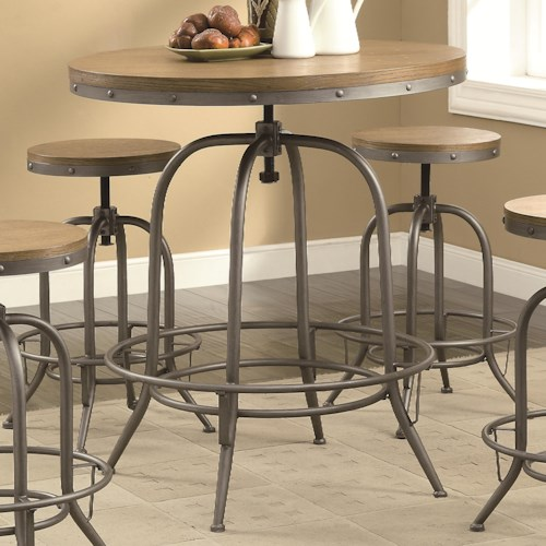 Coaster Bar Units and Bar Tables Transitional Adjustable Bar Table