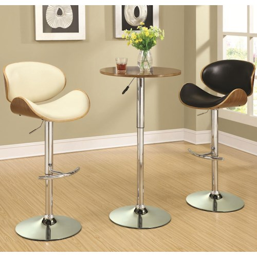 Coaster Bar Units and Bar Tables Adjustable Bar Table Set with Stools