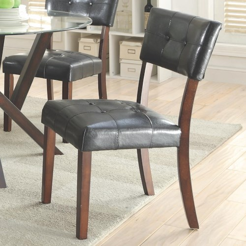 Coaster Beaux Upholstered Leatherette Dining Chair