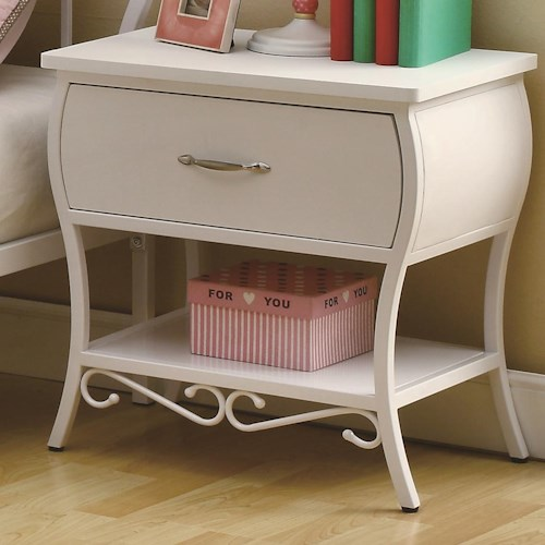 Coaster Bella Youth White Night Stand