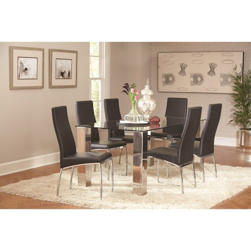 Coaster Bellini Contemporary Table and Chair Set
