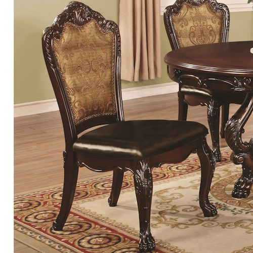 Coaster Benbrook Dining Side Chair with Claw Feet