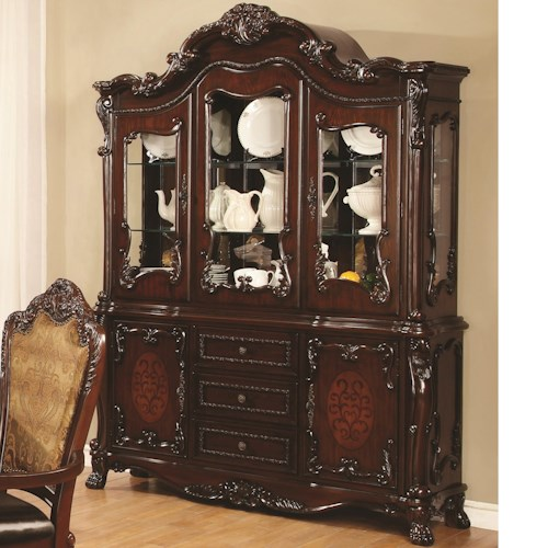 Coaster Benbrook China Cabinet with 5 Doors and 3 Drawers