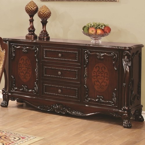 Coaster Benbrook Buffet with 2 Doors and 3 Drawers