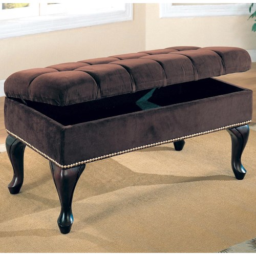 Coaster Benches Storage Bench with Tufted Buttons