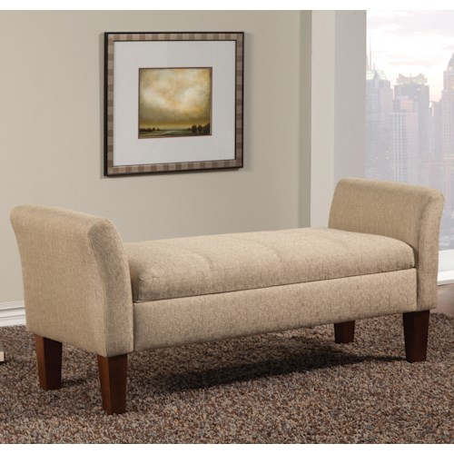 Coaster Benches Storage Bench in Tan Woven Fabric