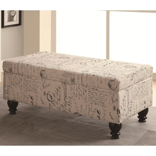 Coaster Benches French Script Storage Bench