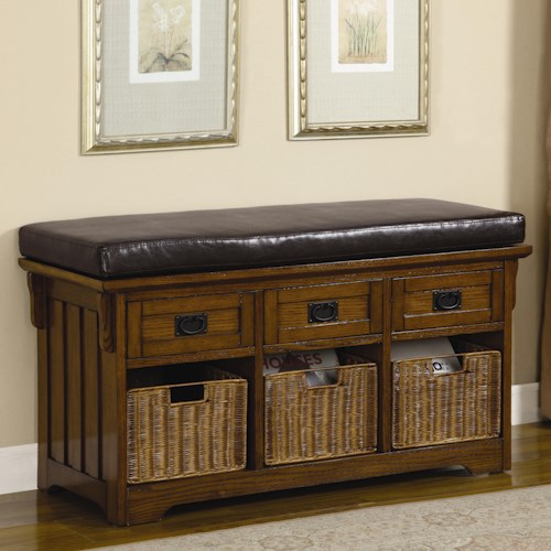Coaster Benches Small Storage Bench with Upholstered Seat