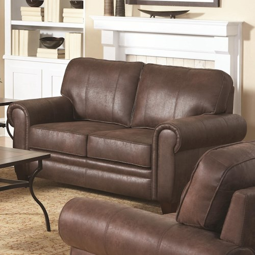 Coaster Bentley Rustic Styled Loveseat with Microfiber Upholstery