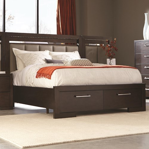 Coaster Berkshire King Storage Bed with 2 Drawer Footboard