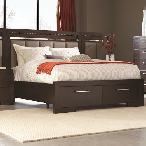 Coaster Berkshire California King Storage Bed with 2 Drawer Footboard