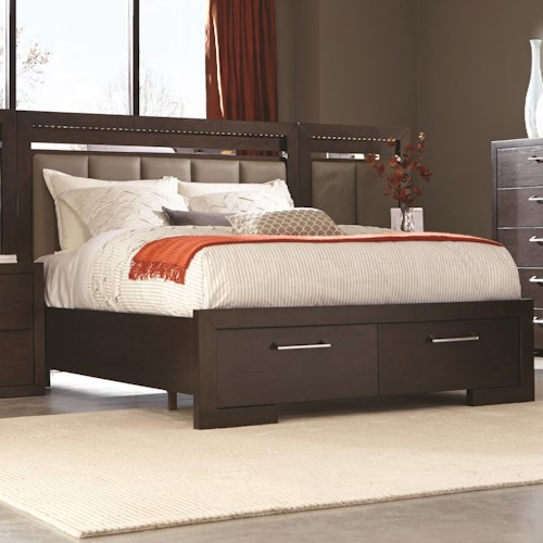 Coaster Berkshire Queen Storage Bed with 2 Drawer Footboard