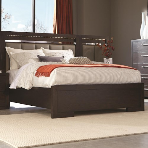 Coaster Berkshire Queen Panel Bed with LED Touch Lighting