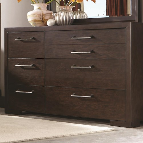 Coaster Berkshire 7 Drawer Dresser with Chrome Hardware