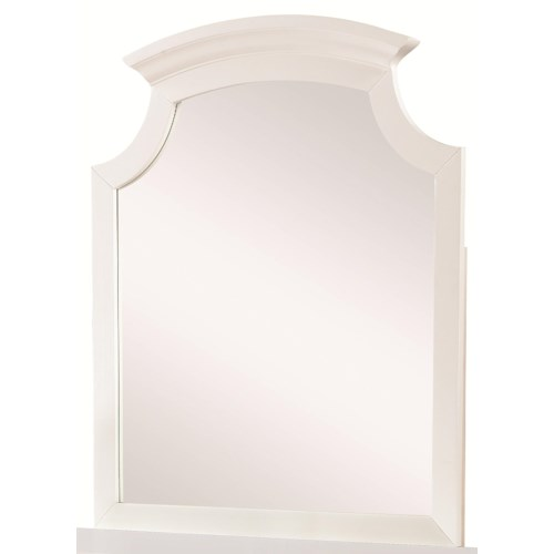 Coaster Bethany Cottage Style Dresser Mirror with Crown Molding