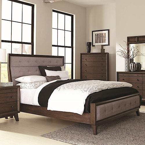 Coaster Bingham Queen Upholstered Bed