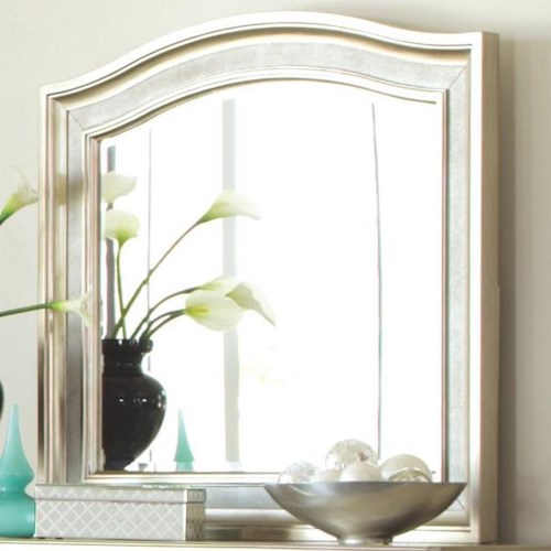 Coaster Bling Game Mirror with Arched Top