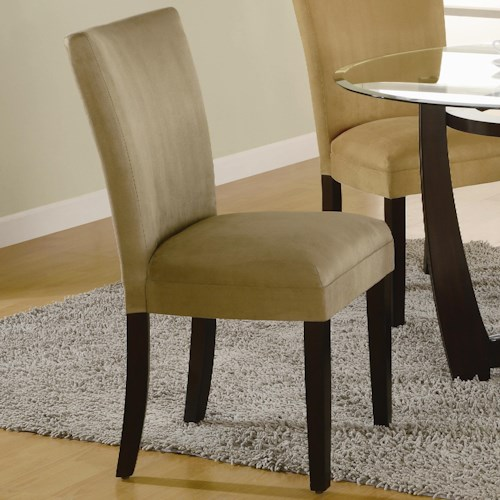 Coaster Bloomfield Microfiber Parson Side Chair