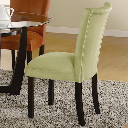 Coaster Bloomfield Microfiber Parson Side Chair