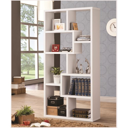 Coaster Bookcases Multiple Cubed Rectangular Bookcase, White