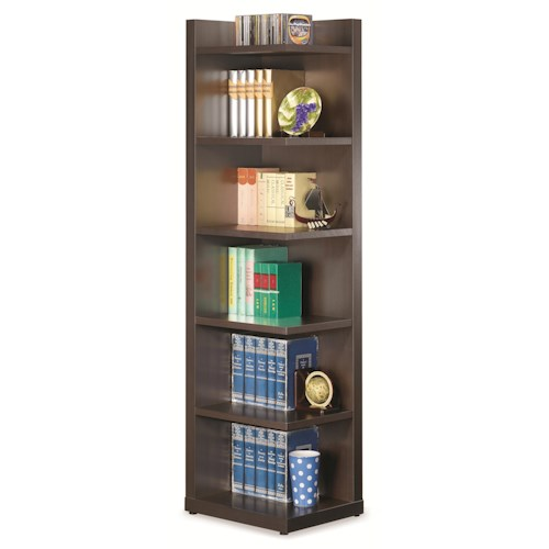 Coaster Bookcases Corner Bookcase with Open Side