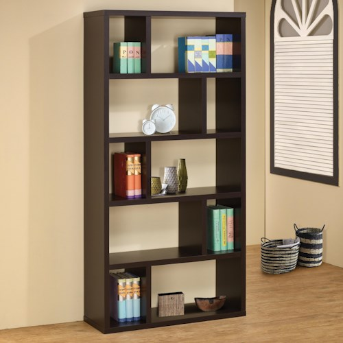 Coaster Bookcases Contemporary Bookshelf