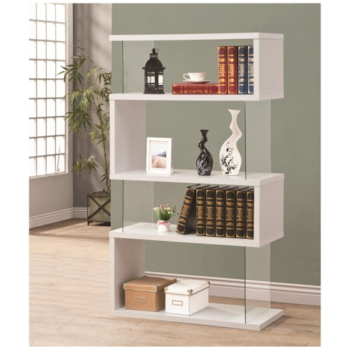 Coaster Bookcases Asymmetrical  Snaking Bookshelf