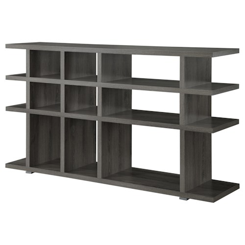 Coaster Bookcases Contemporary Weathered Grey Bookcase/Console