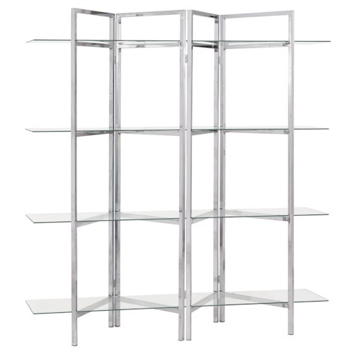 Coaster Bookcases Contemporary Bookcase with Open Glass Shelves