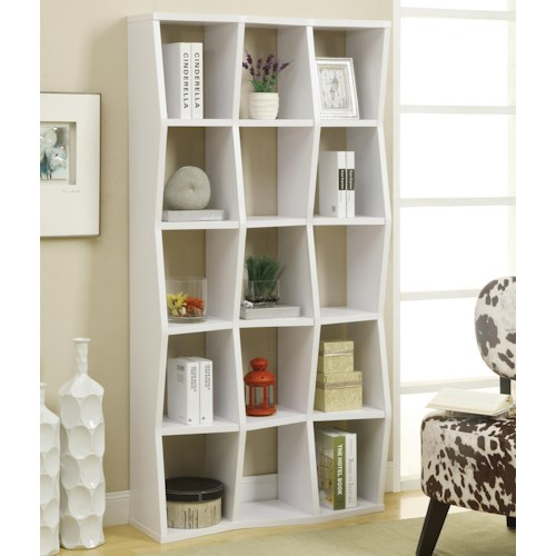 Coaster Bookcases Contemporary Bookshelf with Asymmetrical Shelves