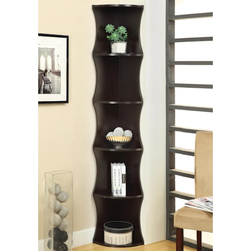 Coaster Bookcases Corner Shelf Bookcase