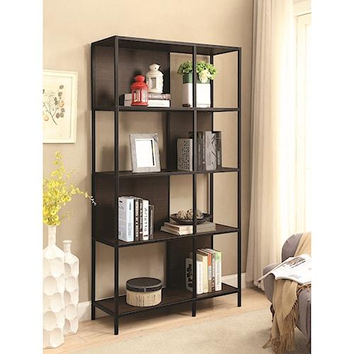 Coaster Bookcases Minimalist Four Shelf Bookcase