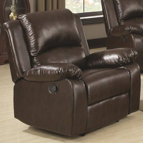 Coaster Boston Casual Recliner with Pillow Arms